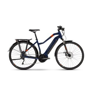 HAIBIKE Pedelec SDURO TREKKING 5.0 (2020), blau/orange in...
