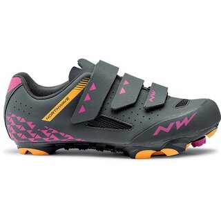 Northwave Schuhe Origin,  Damen, anthrazit fuchsia orange 39